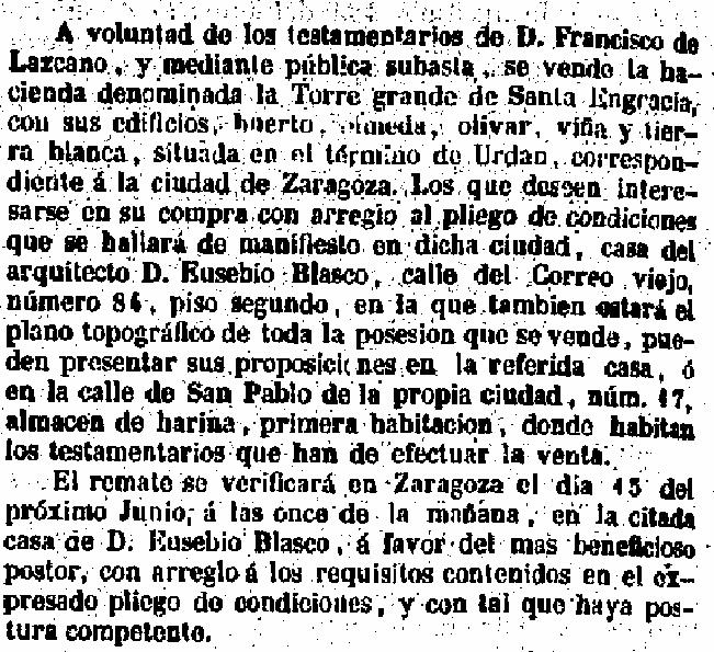 18210408_Gaceta de Madrid_Subasta fincas Santa Engracia_Rec
