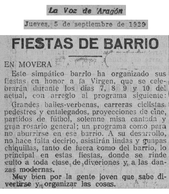 19290905_La Voz de Aragon_0008_Fiestas en Movera