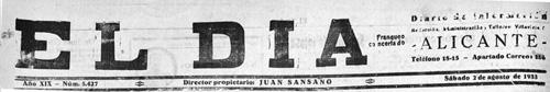 El Dia_Cabecera_1933