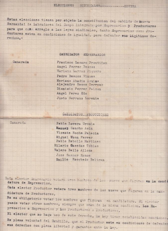 19441020_Elecciones Sindicales