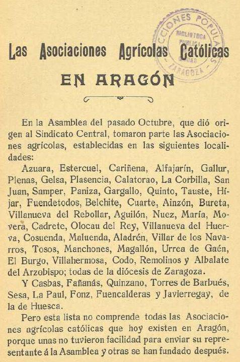 1910_Sindicato Agricola Catolico